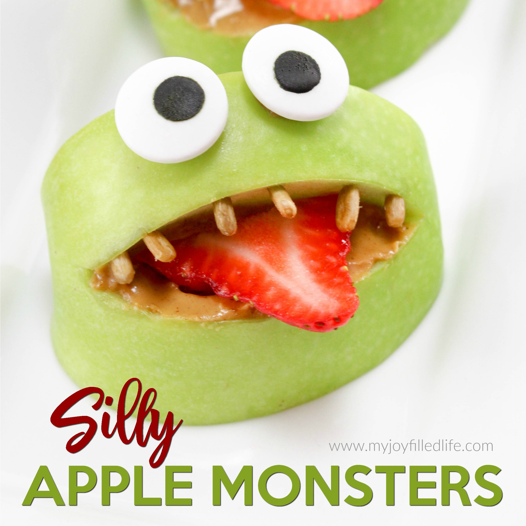 Silly Apple Monster Snack